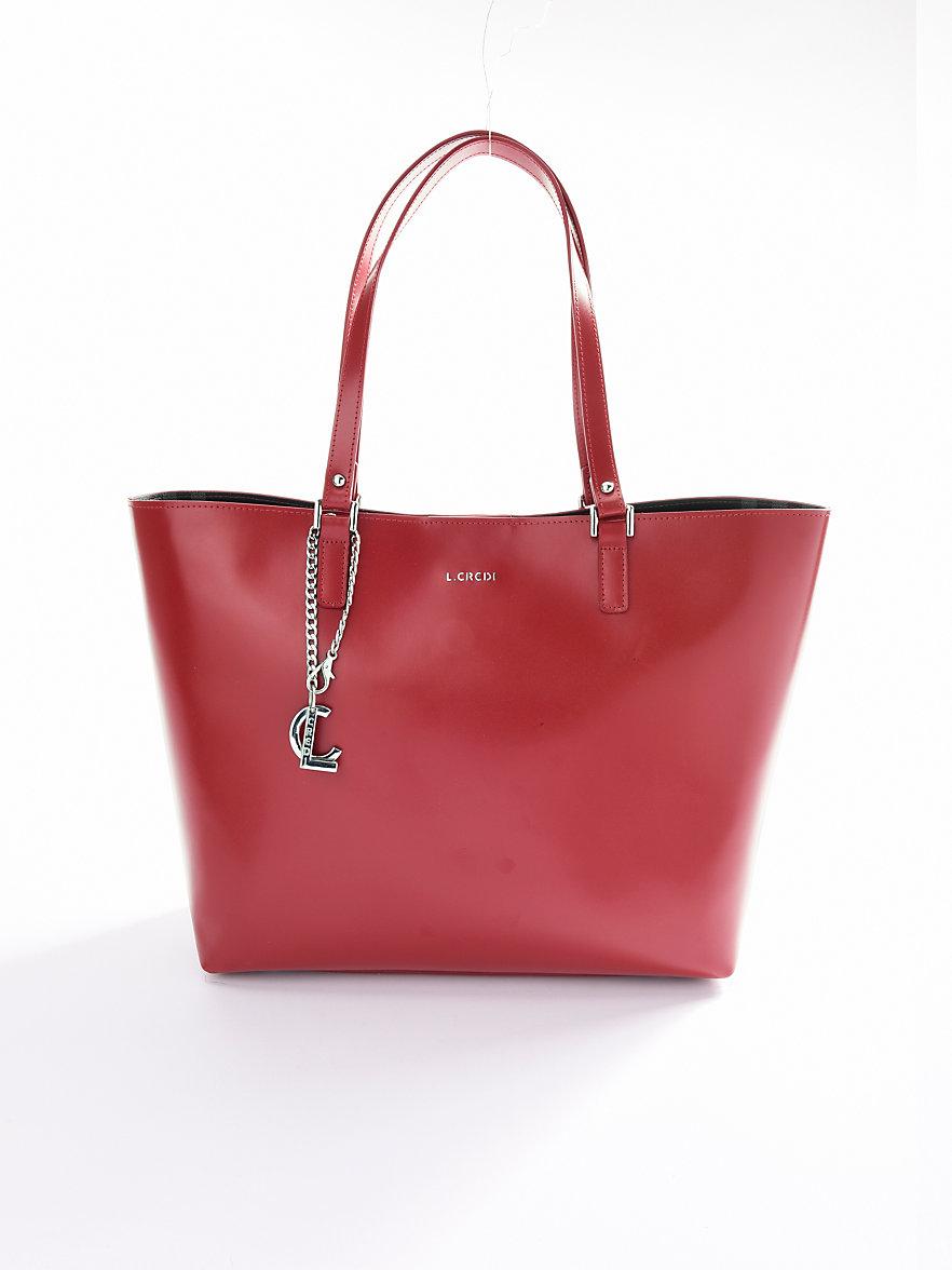 Punainen Chanel Laukku : L credi laukku punainen
